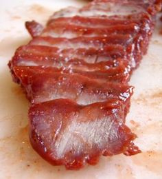 Char Siu- Chinese Roast Pork: All About Cantonese Barbecue - On The Gas Pork Recipes, Cooking Recipes, Asian Recipes, Oriental Recipes, Ramen Recipes, Chinese Recipes, Yummy Recipes, Recipies, Chinese Roast Pork