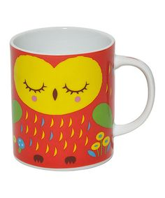 Not that I really need any more mugs... but this Orange Jewel Owl 8-Oz. Mug by Miya Company on #zulily is freaking adorable.