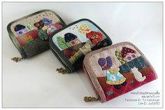 Carteritas en tela Japanese Patchwork, Patchwork Bags, Quilted Bag, Patch Quilt, Applique Quilts, Old Jeans Recycle, Wallet Sewing Pattern, Coin Bag, Fabric Bags