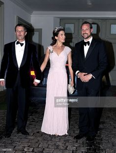 Crown Prince Frederik, And Crown Princess Mary Of Denmark Arrive With Crown Prince Haakon Of Norway At A Gala Banquet At Fredensborg Palace, Denmark, To Celebrate Prince Henriks 75Th Birthday.