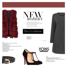 """""""Yoins #53 (http://yoins.me/1PrM4be)"""" by antemore-765 ❤ liked on Polyvore featuring Christian Louboutin, Friend of Mine, women's clothing, women, female, woman, misses and juniors"""