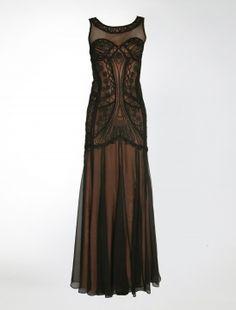Long Fan Lace Dress