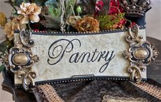 Michelle Butler Pantry Plaque | Reilly-Chance Collection Tabletop Accessories, Old World Style, Butler Pantry, Luxury Home Decor, Kitchen Styling, Beautiful Pictures, Retail, Houses, Tote Bag
