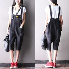 Black Cowboys big pocket summer overall fashion clothes