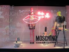 Moschino window for Harrods, London