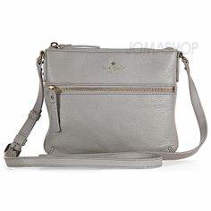 Kate Spade Cobble Hill Tenley Light Smoke Leather Crossbody Bag Pwru2587 001