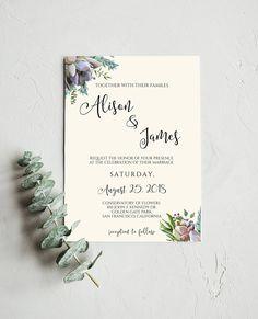 Rustic Wedding Invitation Template, Wedding #weddings #invitation @EtsyMktgTool http://etsy.me/2z9Aq4P #rusticwedding #invitationtemplate