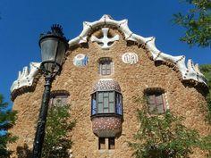 Haus im Park Guell von Antonio Gaudi in Barcelona