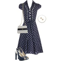 """""""Pretty in Polkadots"""" by miladyc on Polyvore"""