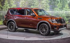 The new, second-gen Nissan Armada finally arrives 12 years after the first one. Read more about the Patrol-based Armada and see images at Car and Driver. Nissan Trucks, Chicago Auto Show, New Nissan, Nissan Patrol, Luxury Suv, Release Date, New Model, Colorful Interiors, Cars 2017