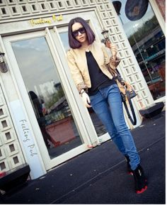 Fashionable Women's Skinny Tapered Denim Pant on BuyTrends.com, only price $18.60