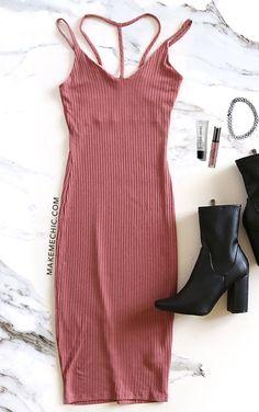 Spaghetti Strap Bodycon Long Dress