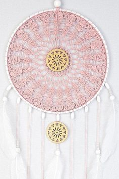 New design of Pink Ash Dream Catcher, Crochet Doily Dreamcatcher, large dreamcatcher, crochet doily dreamcatcher, boho style, wedding decor, wall hanging, wall decor, handmade dreamcatcher, lace dreamcatchers, stylish design. It will defend you and your family from bad dreams and