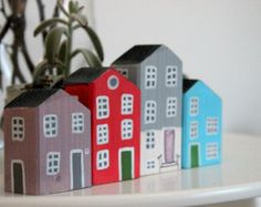 Miniature Wooden House Hand Painted Wood House от Jolicoeuretcie