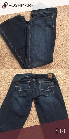 """American eagle """"artist"""" dark wash jeans Artist style jeans. Size 2. Worn once. American Eagle Outfitters Pants"""