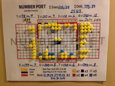 """Example ; Marked up OLG""""s Lotto 649 Results..Last Draws are highlighted in blue."""