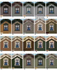 Montgomery Ward House Paint Colors 1915 Historic Paint Colors Palletes Pinterest House