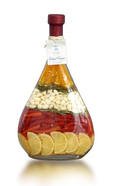 LUTE Decorated Vinegar Bottle - Love these