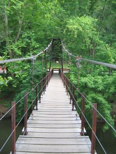 "The ""swinging"" bridge ... Guide to Baltimore: Suspension Bridge in Patapsco State Park"