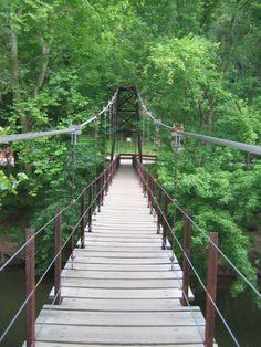 "The ""swinging"" bridge ... Guide to Baltimore: Suspension Bridge in Patapsco State Park"