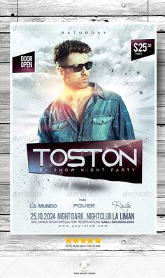 Flyer DJ Toston Night Show Party