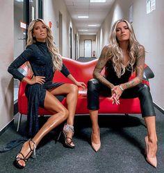 Look Rock, Fashion Looks, Fashion Beauty, Sylvie Meis Style, Rocker, Scene Hair, Blonde Beauty, Fashion Heels, Sexy Hot Girls