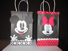 Mickey Mouse Minnie Mouse Favor Bags by BehindTheTheme on Etsy, $25.00
