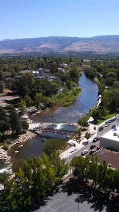 A view of the Truckee River from downtown Reno, NV.