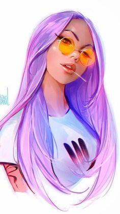 30 Ideas animation art sketches illustration beautiful for 2019 Cute Girl Drawing, Cartoon Girl Drawing, Girl Cartoon, Cartoon Art, Girl Hair Drawing, Cute Manga Girl, Art Anime Fille, Anime Art Girl, Pretty Art