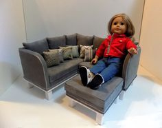 American Girl Doll 2 in 1 Sectional Sofa