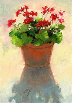 Linda Jacobus - Geraniums Shadow