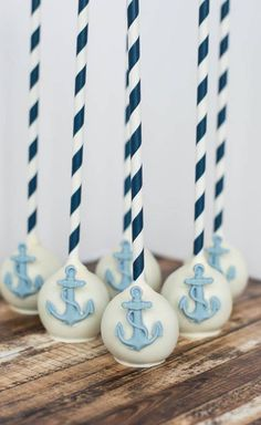 Nautical cake pop