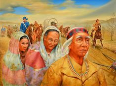 """On the Trail of Tears"" original oil painting by Max Standley 