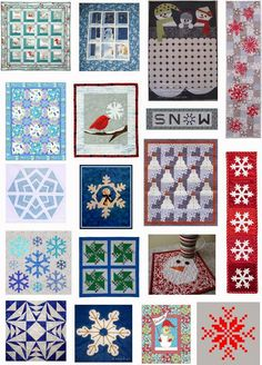 Free pattern day:  Snowmen and Snowflake quilts.  Updated June 23, 2014.  New patterns were added.