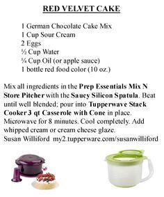 chocolate cherry cake stack cooker tupperware - Recherche Google