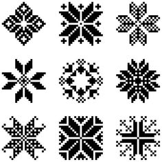 Scandinavian Christmas stars, would be great for a cross stitch or knitting project