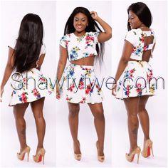 Short spring bloom dress