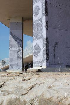 'Demolition Wall' Bottle Ally Hastings & St Leonards on sea.