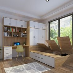 Small Room Design Bedroom, Study Room Design, Bedroom Furniture Design, Home Room Design, Furniture Decor, Living Room Designs, Living Rooms, Condo Interior, Home Interior Design
