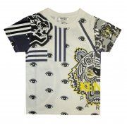 41eecd809 Boys White Abstract Eye Print T-Shirt Kenzo Kids Boys Short Sleeve, Crew  Neck, @ Chocolate - Luxury childrenswear for all occasions!