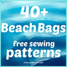 Beach Bags free sewing patterns