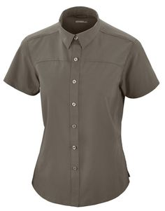 78675 NEW CHARGELADIES RECYCLED POLYESTER PERFORMANCE SHORT SLEEVE SHIRT. Textured rip stop with mechanical stretch. Structured collar stand     stylized front and back yokes. Heat seal label     front and back princess seams. Side slits Sizes: XS S M L XL XXL 3XL  $39.90