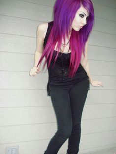 Purple and magenta ♥ omg i love this color combo!...now i NEED to do this to my hair