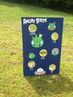 Angry Birds Bean Bag Toss Game Includes 8 bags by CountryCornholes