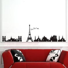 I Love Paris Eiffel Tower Silhouette Wall Decal by HomeFreeStyle, $11.91