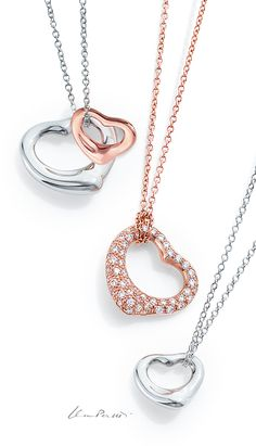 Open your heart to all of the possibilities the season brings with Elsa Peretti® Open Heart designs.