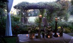At dusk - magical gardens at Glen-Ella Springs.