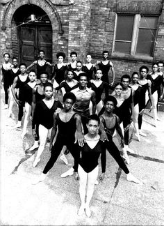 Early days at the Dance Theater of Harlem with it's founder Arthur Mitchell in the center