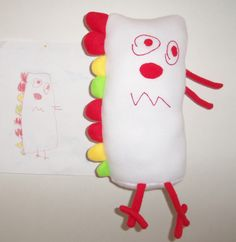Children's drawings made into Cuddly toys.