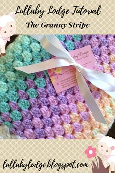 Easy Crochet Afghans Learn how to crochet the Granny Stripe Stitch in this easy tutorial suitable for beginners. Perfect for baby blankets, bedspreads and throws. This free pattern shows you how. Crochet Afghans, Granny Stripe Crochet, Crochet Baby Blanket Beginner, Free Baby Blanket Patterns, Afghan Crochet Patterns, Crochet Stitches, Crochet Blankets, Crochet Patterns For Baby, Crochet Ideas